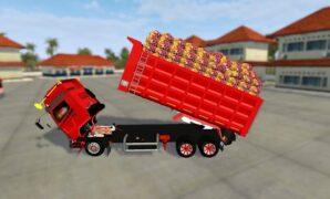 Dump Truck Hino Muatan Sawit Full Anim