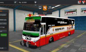 Bus Harapan Jaya Max Tentrem Full Anim, Ceper+Modifikasi