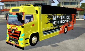 Truck Hino 500 Bumper Modif, Livery Jernih Banget