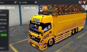 Truck Hino 500 Gayor Muatan Sawit Full Anim