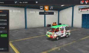 Mobil Angkot Modif Putih Full Anim