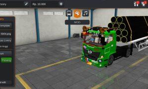 Truck Hino 500 Trailer Modifikasi Full Anim