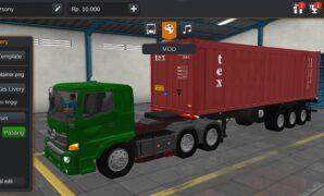 Truck Hino Trailer Kontainer Full Anim