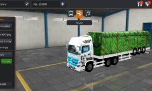 Truck Hino Trailer Siba Surya Terpal 3D Full Anim