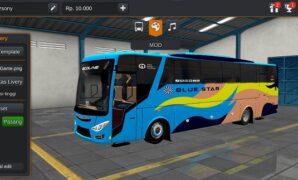 Bus Blue Star Ecoline Full Anim