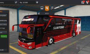 Bus PO Santoso JB3+ SHD Mercy Full Anim