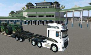 Truck Trailer Super Panjang Muatan Alat Berat