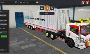 Truck Giga Trailer Kontainer Maersk Full Anim