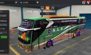 Bus ALS Malang Medan Tronton Volvo Full Aksesoris