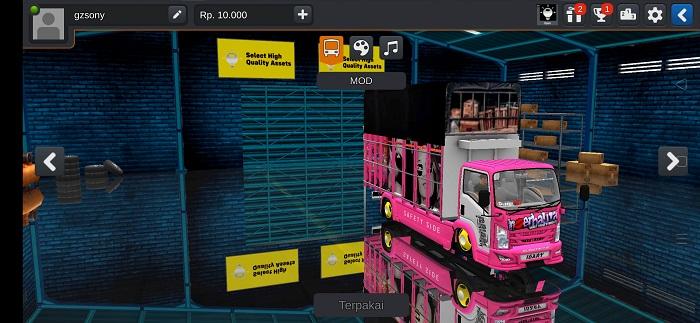mod bussid truck canter nmr71 mbois full strobo